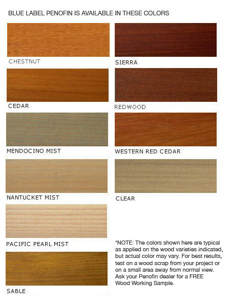 penofin blue label color chart