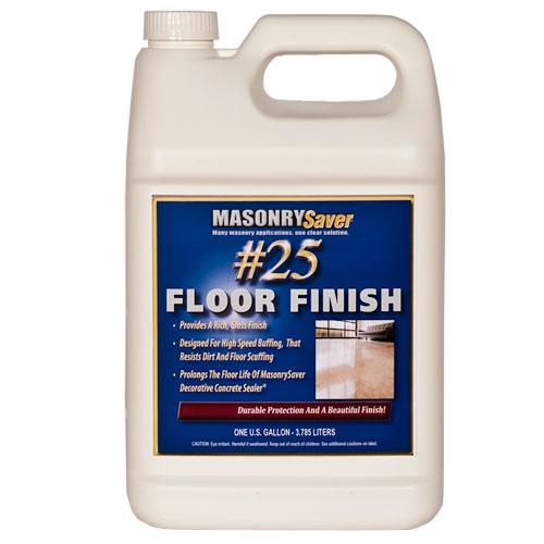 Masonrysaver 25 Floor Finish 1 Gallon The Sealer Store